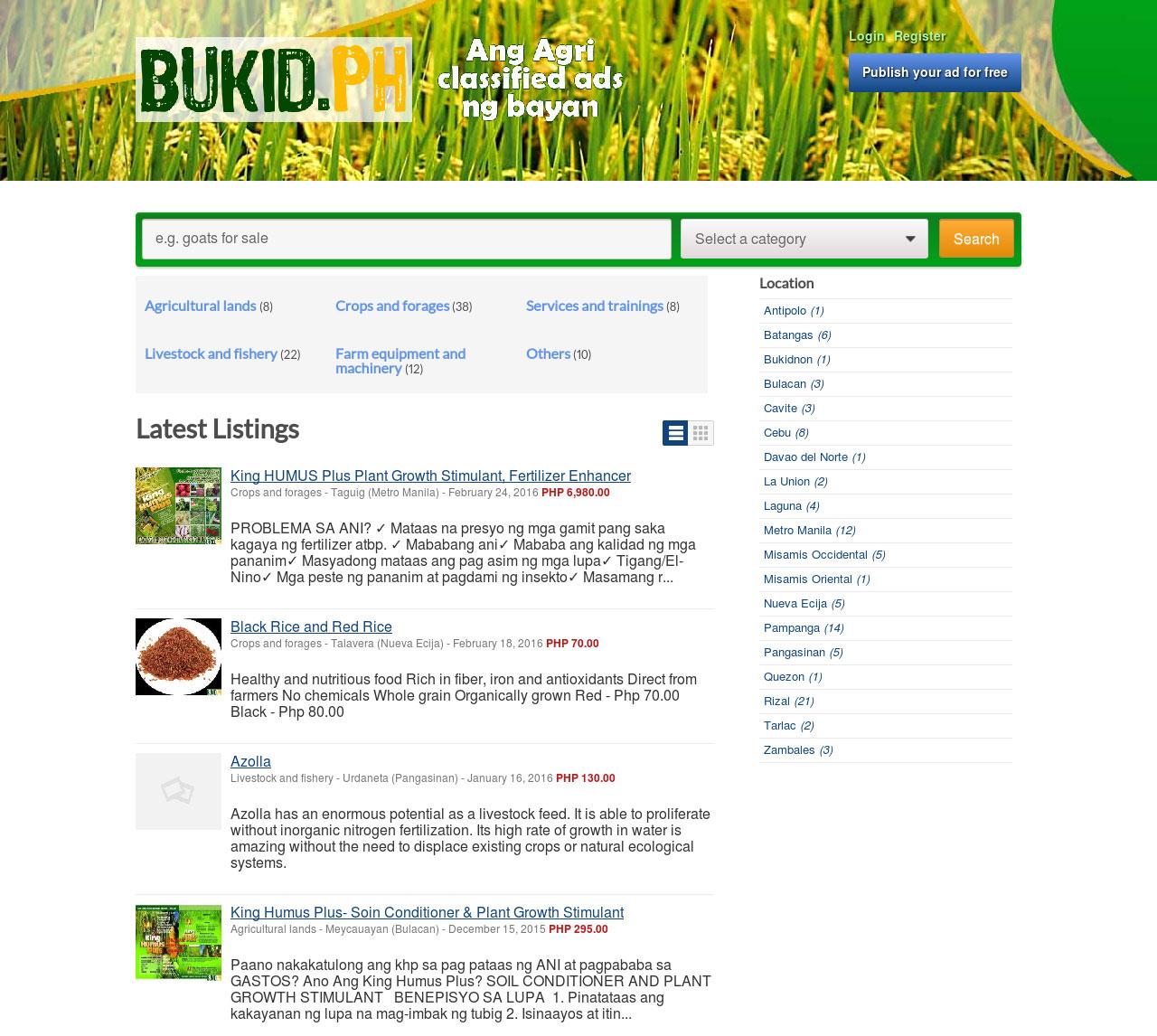 Bukid.ph Ang agri classified ads ng bayan