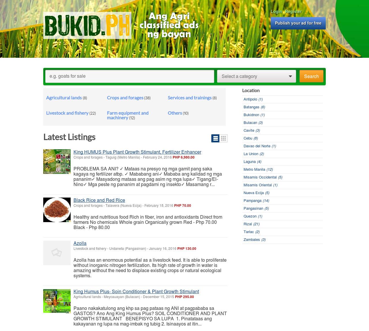 Bukid.ph Ang agri classified ads ng bayan